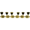 3 Per Side Vintage Diecast Series Waffleback/Super Tuning Machines Gold With Metal Keystone Buttons