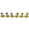 3 Per Side Vintage Diecast Series Waffleback/Super Tuning Machines Gold With Oval Metal Buttons