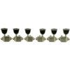 3 Per Side Vintage Diecast Series Waffleback/Super Tuning Machines Nickel With Metal Keystone Buttons