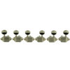 3 Per Side Vintage Diecast Series Waffleback/Super Tuning Machines Nickel With Oval Metal Buttons