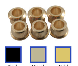 Adapter Bushing Set For Vintage Stamped Steel Series Tuning Machines & Contemporary Fender® Guitars