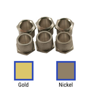 Replacement Hex Head Bushing Set For Vintage Stamped Steel Series Tuning Machines & Vintage Gibson® Or Martin® Guitars