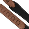 Neoprene Pad Strap with Leather Ends Cognac