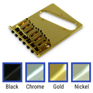 Contemporary Replacement Bridge For Left Hand Fender® Telecaster® With Brass Or Steel Saddles
