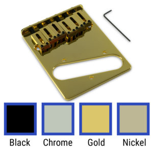 Contemporary Replacement Bridge For Fender Telecaster® With Brass Or Steel Saddles