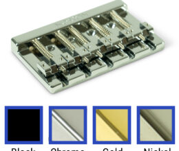 High Mass 5 String Bass Bridge Zinc With Brass Saddles