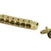 Replacement Aluminum Nashville Tune-O-Matic Bridge With Brass Saddles Gold