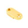Brass Archtop Pickguard Bracket Foot 1 in. Gold