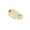 Brass Archtop Pickguard Bracket Foot 1 in. Nickel