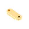 Brass Archtop Pickguard Bracket Foot 1.25 in. Gold