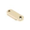 Brass Archtop Pickguard Bracket Foot 1.25 in. Nickel