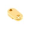Brass Archtop Pickguard Bracket Foot .875 in. Gold
