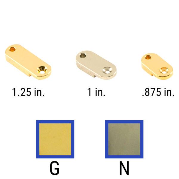 Brass Archtop Pickguard Bracket Foot